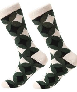 Dorai Socks - Pattern Circle Dark Green