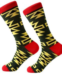 Dorai Socks - Pattern Yellow Dark Green