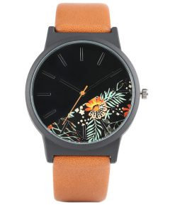 Dorai Watch - Tropical Leaf Choco Strap