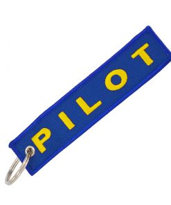 Remove Before Flight Key Chain - pilot biru