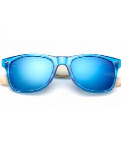 Summer Fashion Bamboo Sunglasses Super Blue