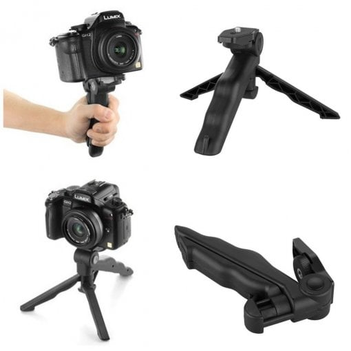 Taffware Mini Foldable Folding Tripod Stand - CP-GP264 - Black 01